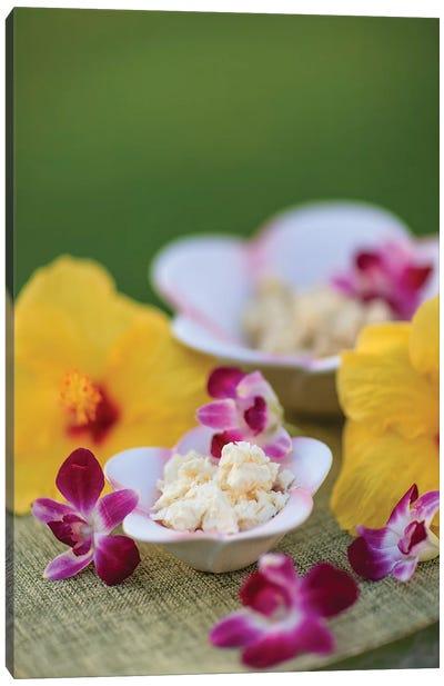 Aloe Butter and Ginger Lime, outdoor Spa, Wailea, Maui, Hawaii, USA Canvas Art Print