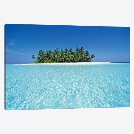Uninhabited Tropical Island, Ari Atoll, Republic Of Maldives Canvas Print #SWE2} by Stuart Westmorland Canvas Art