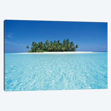 Uninhabited Tropical Island, Ari Atoll, Republic Of Maldives Canvas Print #SWE2} by Stuart Westmorland Canvas Art