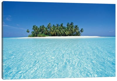Uninhabited Tropical Island, Ari Atoll, Republic Of Maldives Canvas Art Print