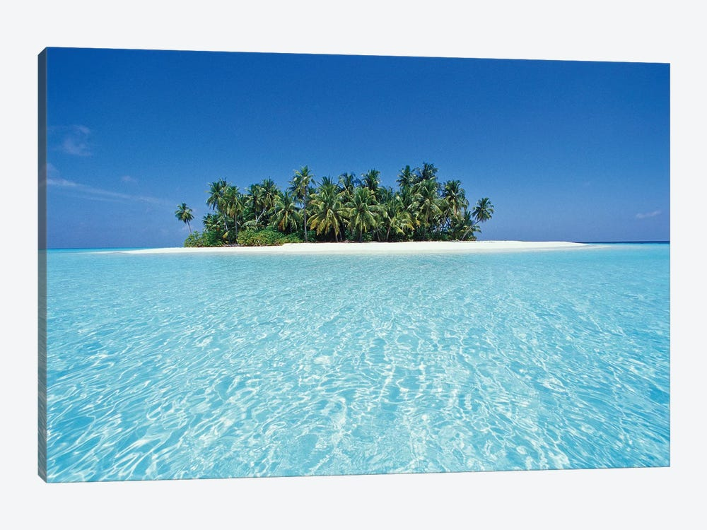 Uninhabited Tropical Island, Ari Atoll, Republic Of Maldives by Stuart Westmorland 1-piece Canvas Art