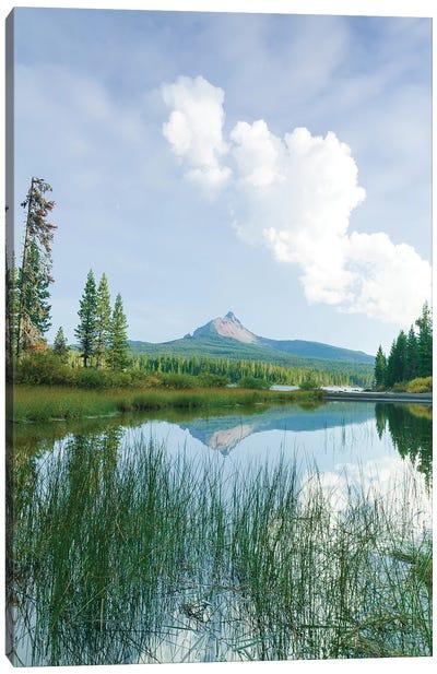Big Lake, Willamette National Forest, Mt. Washington, Central Oregon Canvas Art Print