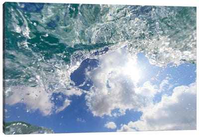 Fisheye view of wave breaks at Hapuna Beach, Big Island, Hawaii Canvas Art Print