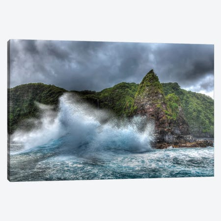 Jurassic Rock, Rugged Coastline of North East Shoreline of Maui, Hawaii Canvas Print #SWE52} by Stuart Westmorland Art Print