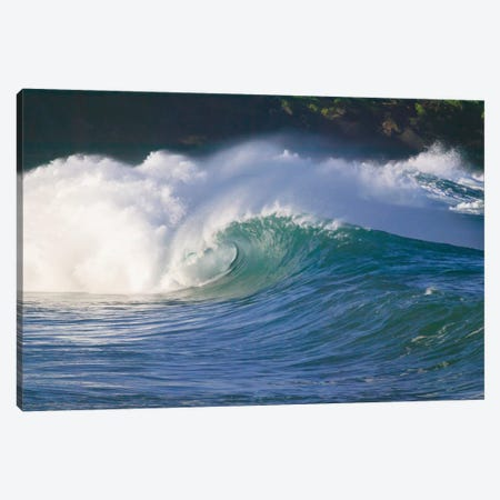 Pacific storm waves, North Shore of Oahu, Hawaii Canvas Print #SWE61} by Stuart Westmorland Canvas Wall Art