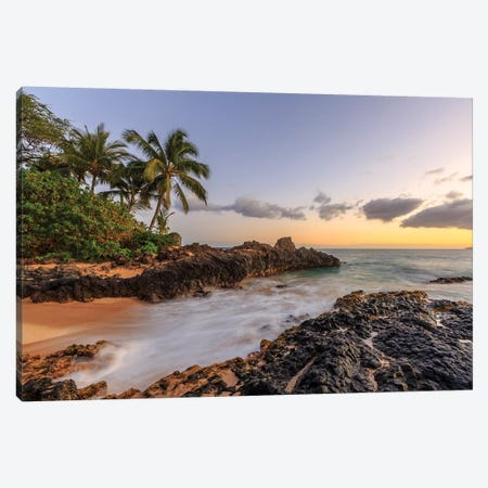 Small beach in Makena area, Maui, Hawaii, USA Canvas Print #SWE68} by Stuart Westmorland Canvas Wall Art