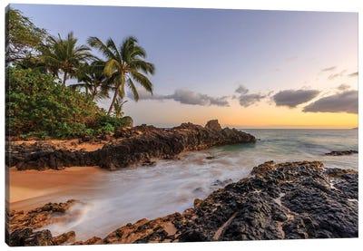 Small beach in Makena area, Maui, Hawaii, USA Canvas Art Print
