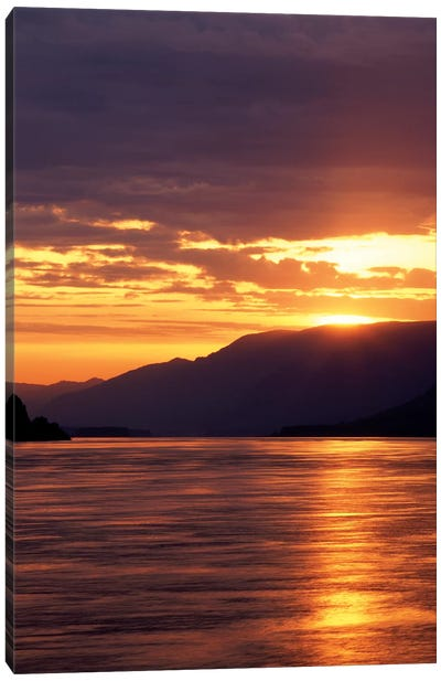 Columbia River Gorge At Sunset, Oregon, USA Canvas Art Print