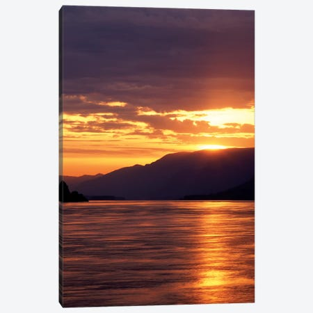 Columbia River Gorge At Sunset, Oregon, USA 3-Piece Canvas #SWE6} by Stuart Westmorland Art Print