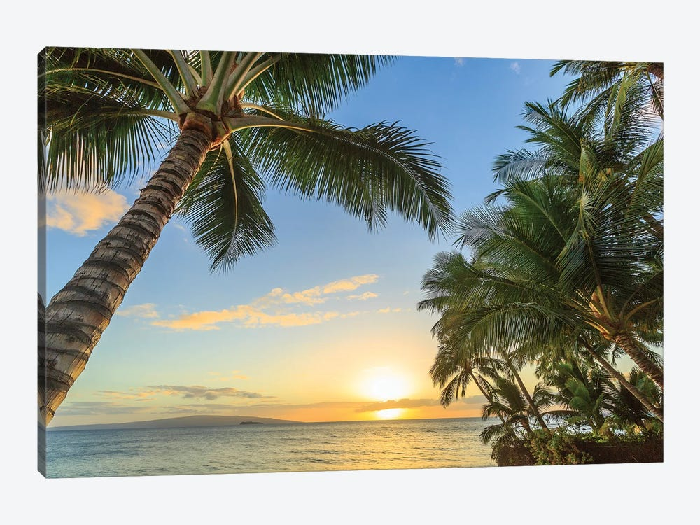 Sunset at beach near Wailea, Maui, Hawaii, USA by Stuart Westmorland 1-piece Art Print