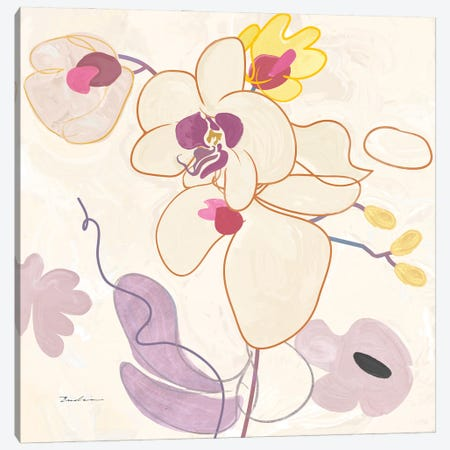 Orchid IV Canvas Print #SWH13} by Evelia Sowash Canvas Wall Art