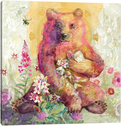 Rose The Bear Canvas Art Print