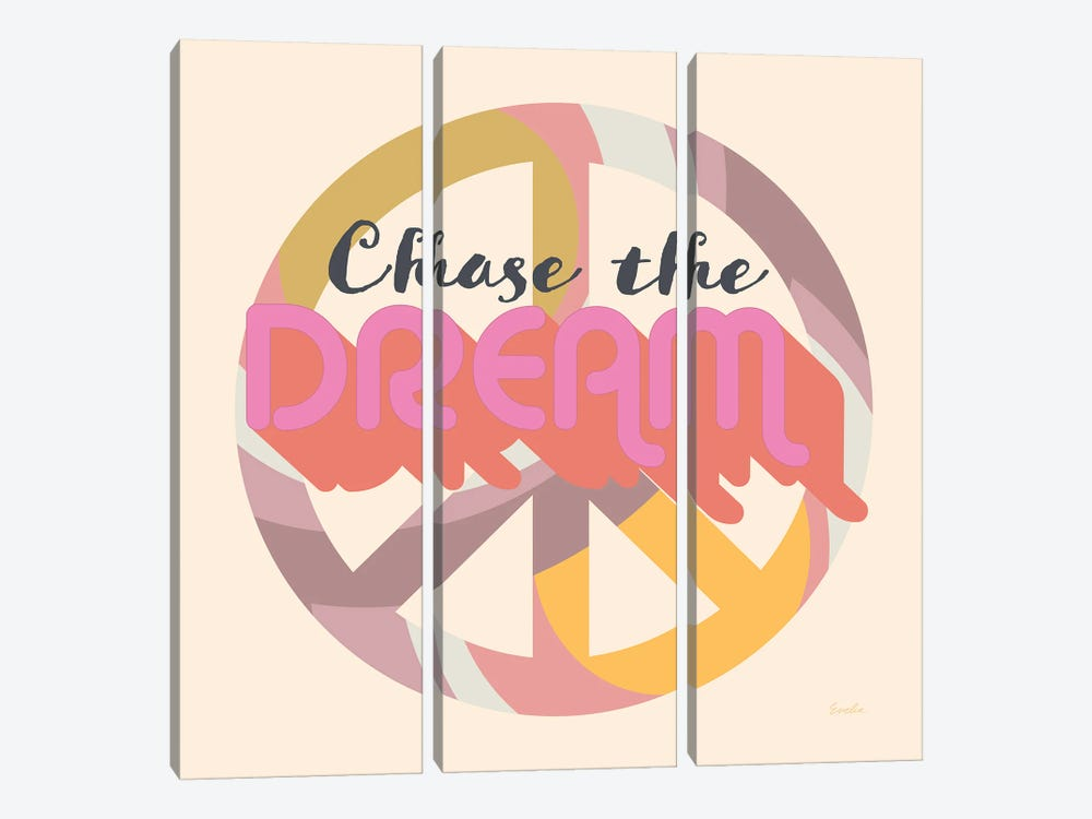 Chase The Dream by Evelia Designs 3-piece Canvas Wall Art