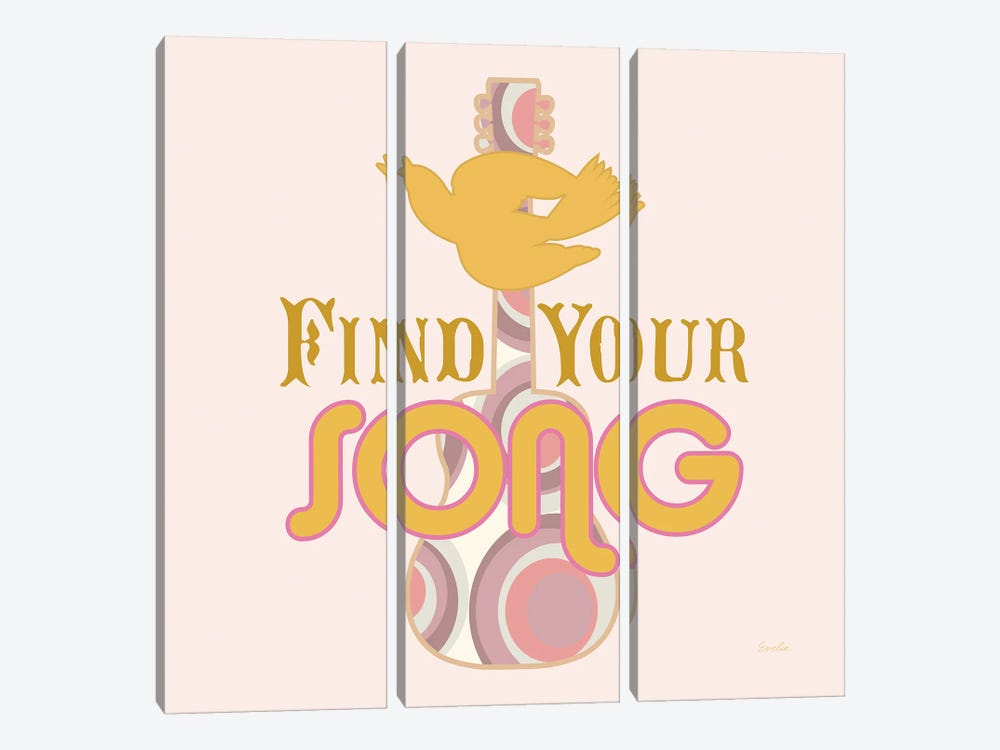 Find Your Song by Evelia Designs 3-piece Art Print