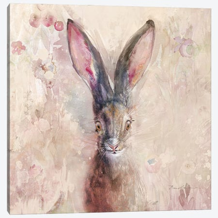 Hare On The Prairie Canvas Print #SWH3} by Evelia Designs Art Print