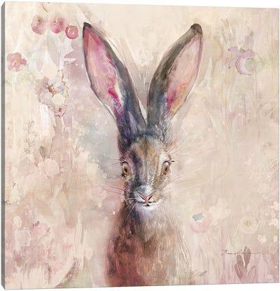 Hare On The Prairie Canvas Art Print