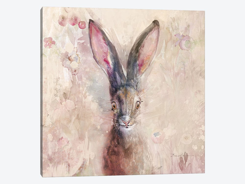 Hare On The Prairie by Evelia Designs 1-piece Canvas Wall Art
