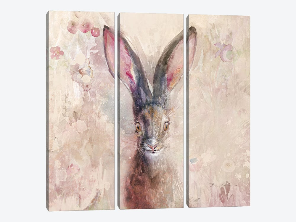 Hare On The Prairie by Evelia Designs 3-piece Canvas Wall Art