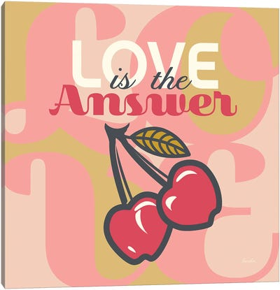 Love Is The Answer Cherries Canvas Art Print