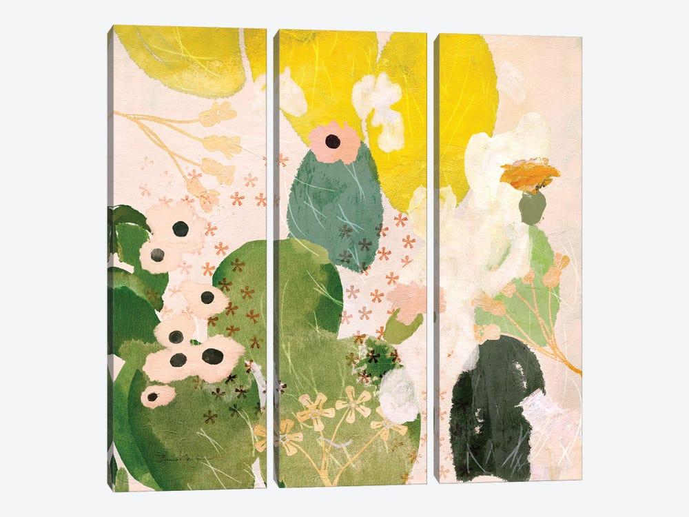 Mexican Nopal Cactus II by Evelia Sowash 3-piece Canvas Print