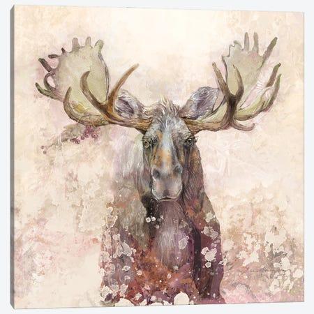 Moose Canvas Print #SWH9} by Evelia Sowash Canvas Print
