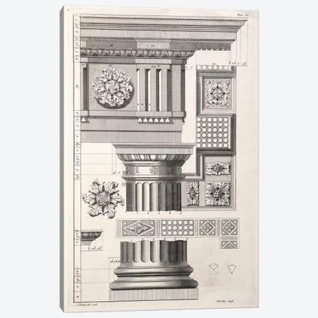 Column & Rosettes Canvas Print #SWN1} by Abraham Swan Art Print