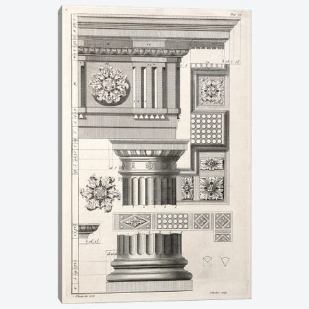 Column & Rosettes Canvas Print #SWN1} by Abraham Swan Art Print