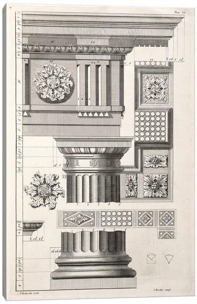 Column & Rosettes Canvas Art Print