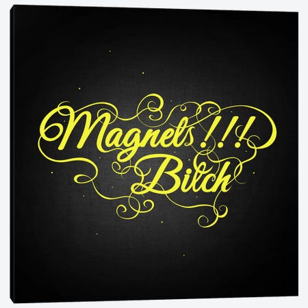 Magnets Bitch II Canvas Print #SWS19} by 5by5collective Canvas Print