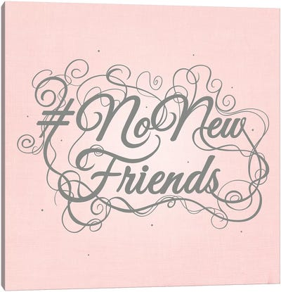 NoNewFriends Canvas Art Print