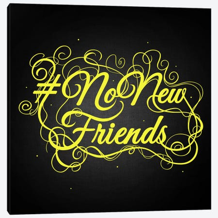 NoNewFriends II Canvas Print #SWS2} by 5by5collective Canvas Art Print