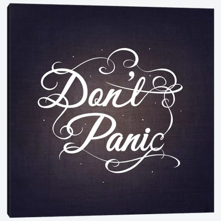 Don't Panic Canvas Print #SWS30} by 5by5collective Canvas Print