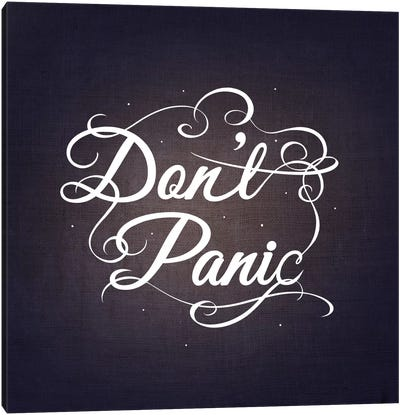 Don't Panic Canvas Art Print