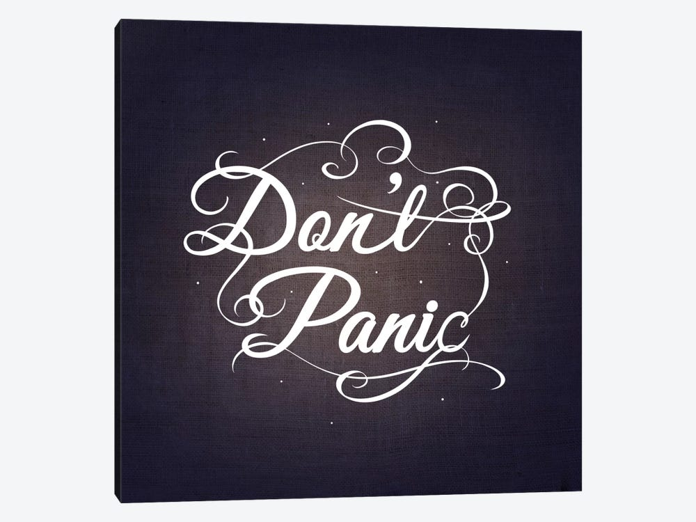 Don't Panic by 5by5collective 1-piece Canvas Art