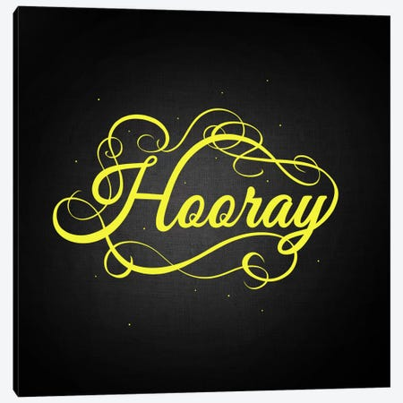 Hooray Canvas Print #SWS31} by 5by5collective Canvas Art Print