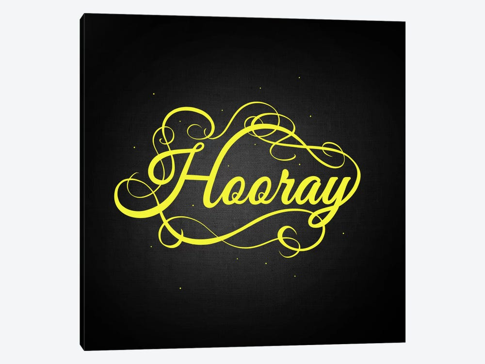 Hooray by 5by5collective 1-piece Canvas Art Print