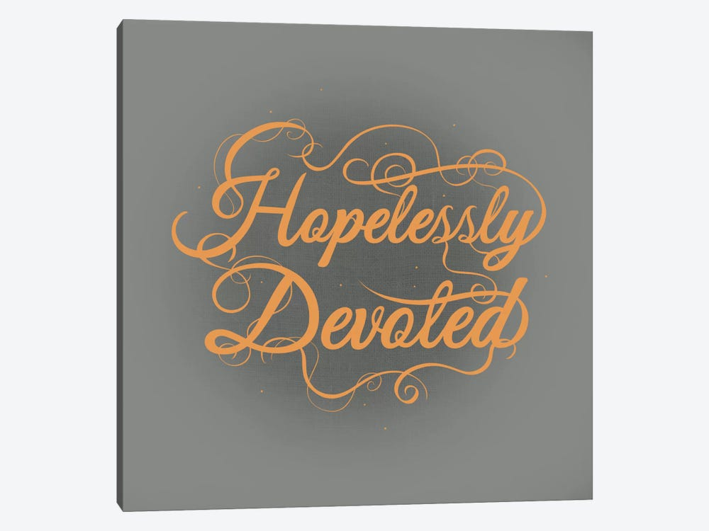Hopelessly Devoted by 5by5collective 1-piece Canvas Wall Art