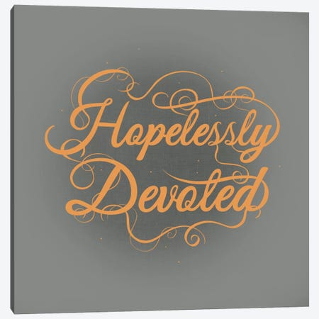 Hopelessly Devoted 3-Piece Canvas #SWS32} by 5by5collective Canvas Art Print