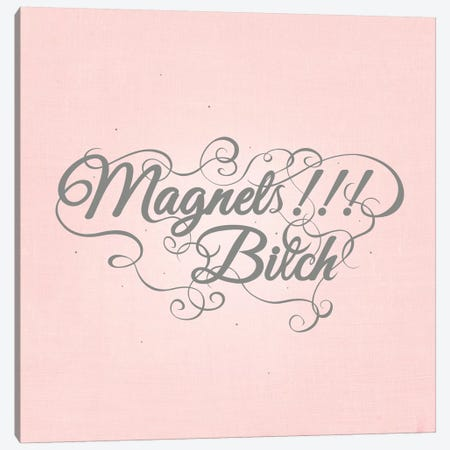 Magnets!!! Bitch Canvas Print #SWS33} by 5by5collective Canvas Art Print