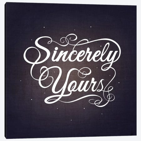 Sincerely Yours Canvas Print #SWS36} by 5by5collective Canvas Wall Art
