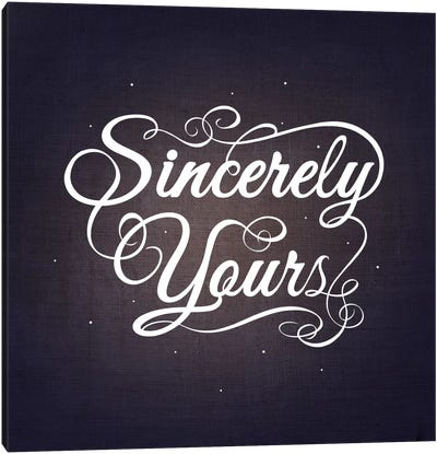 Sincerely Yours Canvas Art Print
