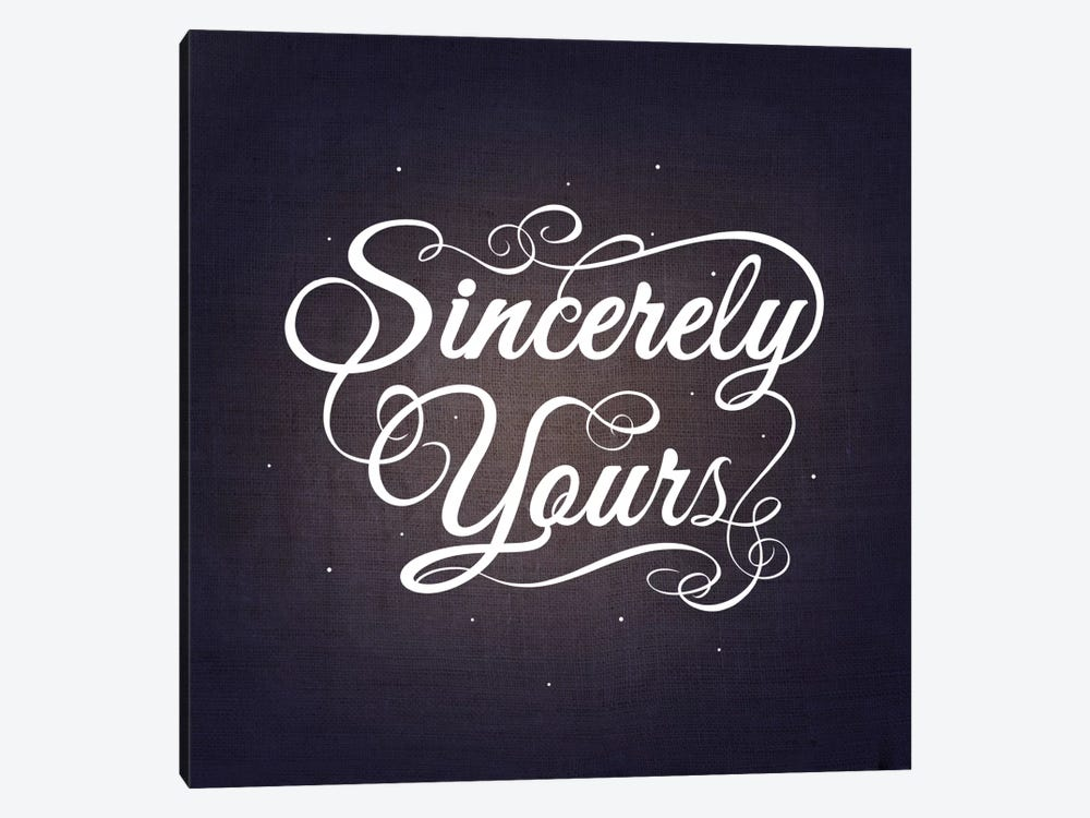 Sincerely Yours by 5by5collective 1-piece Canvas Wall Art