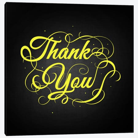 Thanks You Canvas Print #SWS38} by 5by5collective Canvas Art Print