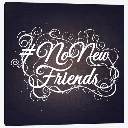 NoNewFriends III Canvas Print #SWS3} by 5by5collective Art Print