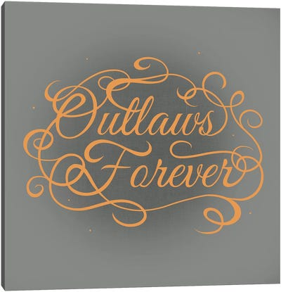 Outlaws Forever Canvas Art Print