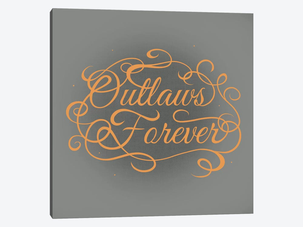 Outlaws Forever by 5by5collective 1-piece Canvas Art Print