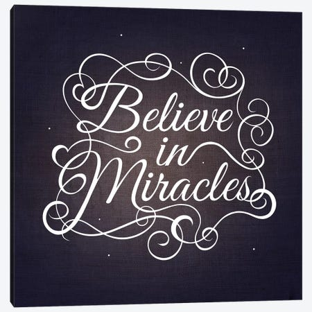 Believe in Miracles Canvas Print #SWS5} by 5by5collective Canvas Artwork
