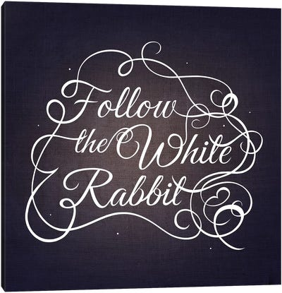 Follow the White Rabbit Canvas Print #SWS8