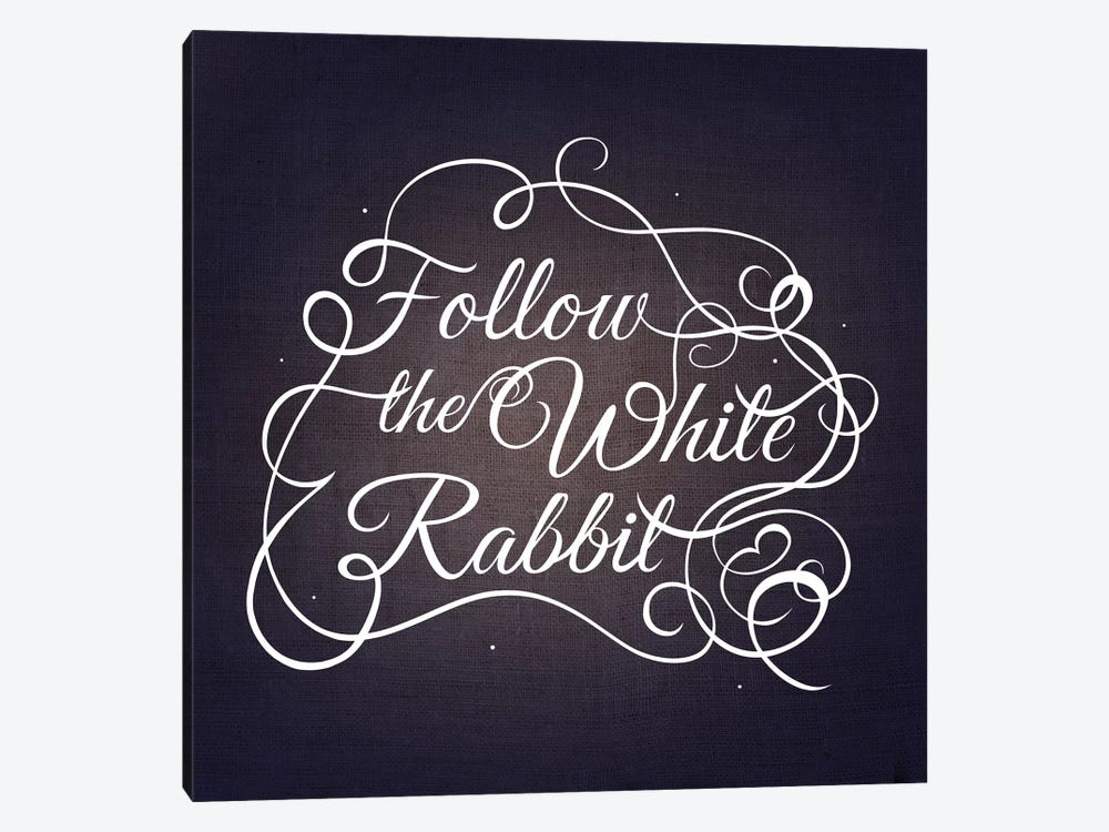 Follow the White Rabbit by 5by5collective 1-piece Canvas Art