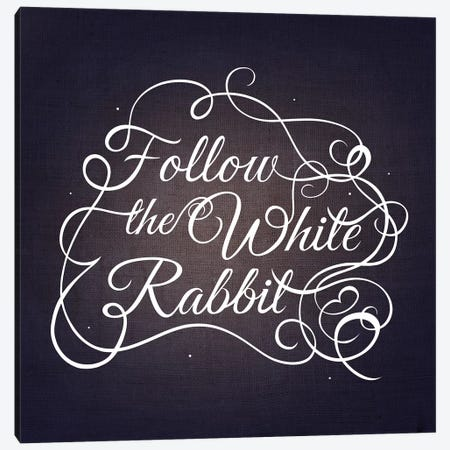 Follow the White Rabbit Canvas Print #SWS8} by 5by5collective Art Print